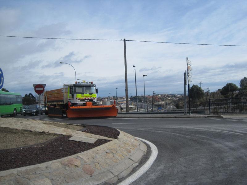 Quitanieves en Torrelodones 5-2-2012