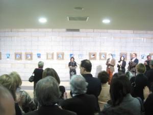 La Alcaldesa se dirigió al público presente