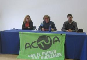 Rueda de Prensa de acTÚa (Foto de Archivo)
