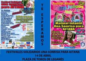 Festivales Solidarios Leganés 14 de abril 2012 - Una Sonrisa para Aitana