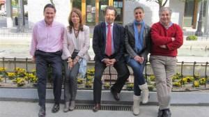 De izq. a der.: Francisco Carou, Miryam Aguirre, Javier Laorden, Paula Sereno y Arturo Martínez