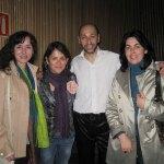 De izq. a der.: Ana Hurtado, Elena Biurrun, Fabián Carbone y Rosa Rivet