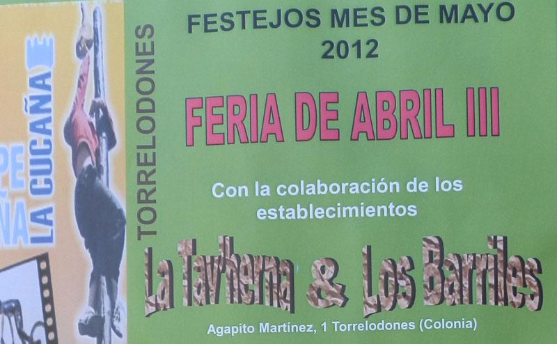 11, 12 y 13 de Mayo, Feria de Abril en Torrelodones (colonia)