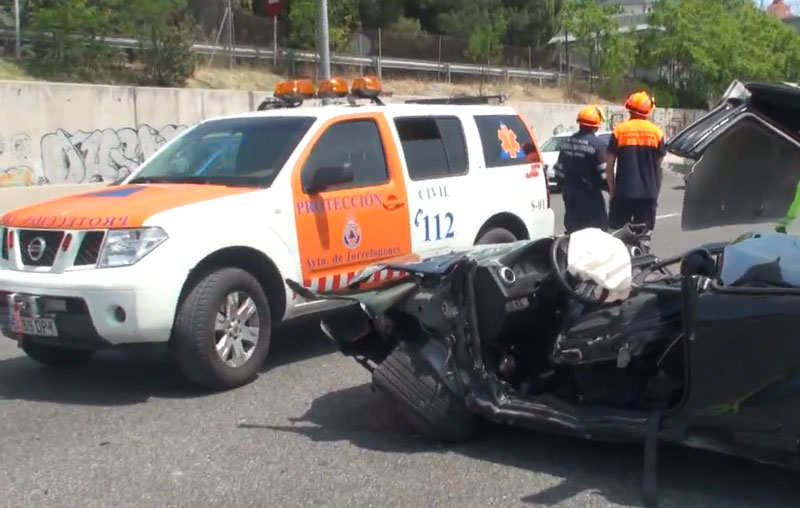 Accidente en la A-6 a la altura de Torrelodones