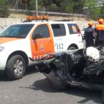 Accidente A-6 a la altura de Torrelodones