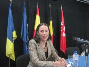 Catherine Van der Linden, de la Embajada de Bélgica en España