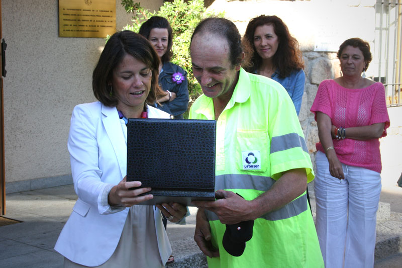 Homenaje a Juan Reyes, un trabajador de Torrelodones