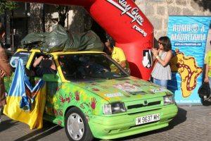 Salida del coche de Protección Civil en el Rally Torrelodones - Nouadhibou