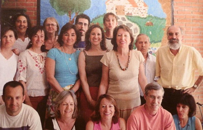 Yolanda Serna (arriba izquierda) con sus compañeros del CP Ntra. Sra. de Lourdes de Torrelodones (curso 2004/2005)