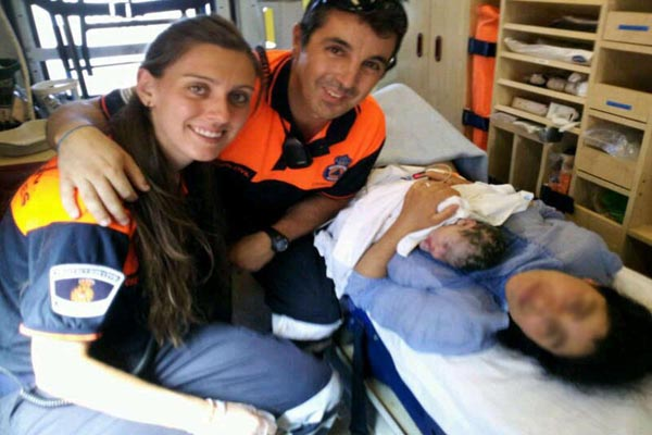 Protección Civil asistió a un parto en Torrelodones