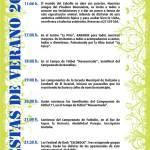 Programa Fiestas de Verano de El Escorial 2012