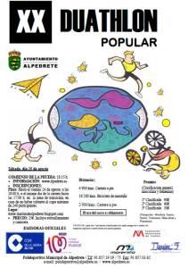 Cartel informativo XX Duathlon Popular de Alpedrete - 2012