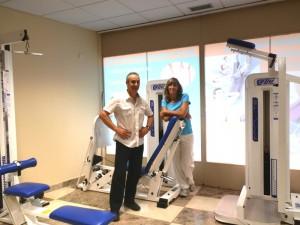 Gimnasio en la clínica ALFA Rehabilitación, de Torrelodones