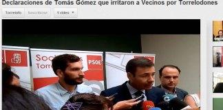 Tomás Gómez realiza declaraciones sobre Vecinos por Torrelodones
