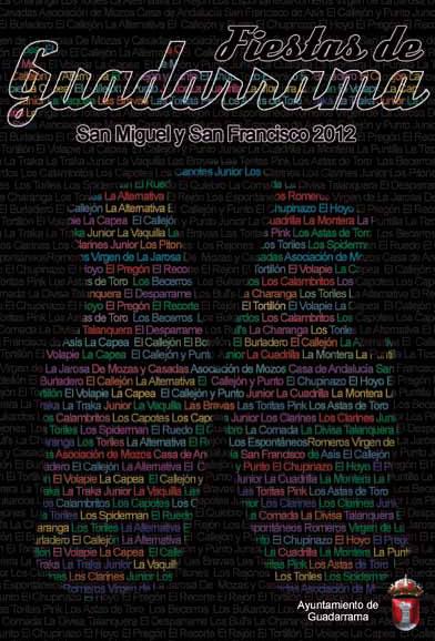 Portada Programa Fiestas Guadarrama 2012