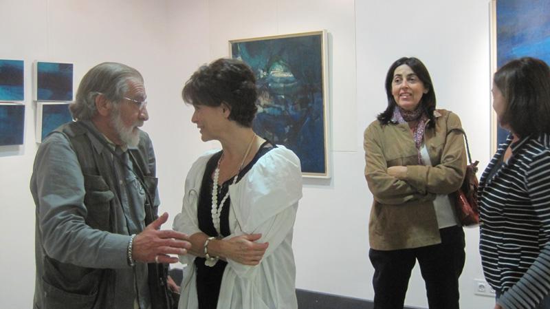 Pedro Extremera y Margarita Alonso en la inauguración de