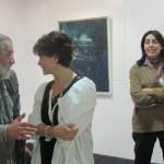 """Pedro Extremera y Margarita Alonso en la inauguración de """"Agua en el agua"""" en Torrelodones"""