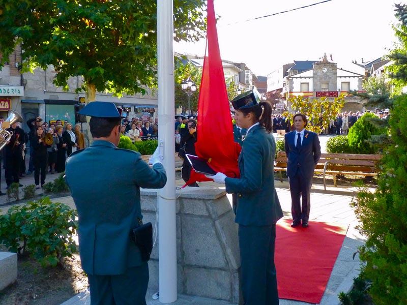 Homenaje a la Bandera Española en Galapagar