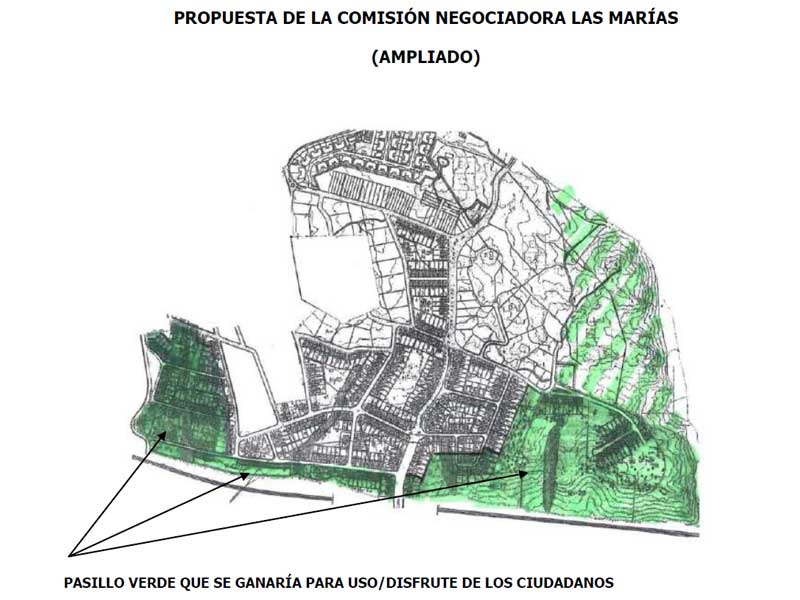Propuesta consensuada que llevarán a los promotores de Las Marías, Torrelodones