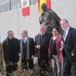 Miembros de la Asociación Alcaldes del V Centenario con Carlos Terrés