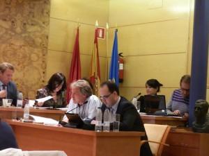 Rubén Díaz, portavoz de acTÚa, solicitó la comparecencia de Carlos Beltrán, concejal de Deportes, Juventud y Fiestas