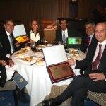 """Mesa de premiados en los Premios """"Lodón de Oro 2012"""" de la Asociación Empresarial de Torrelodones"""