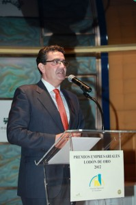"""El periodista Javier Quero en la entrega de Premios """"Lodón de Oro 2012"""" de la Asociación Empresarial de Torrelodones"""