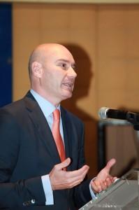 Miguel Ángel Galán en la entrega de los Premios Lodón de Oro 2012 de la Asociación Empresarial de Torrelodones