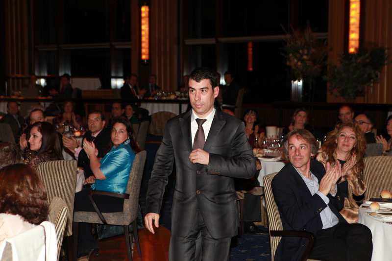 El periodista Javier Quero en la entrega de Premios