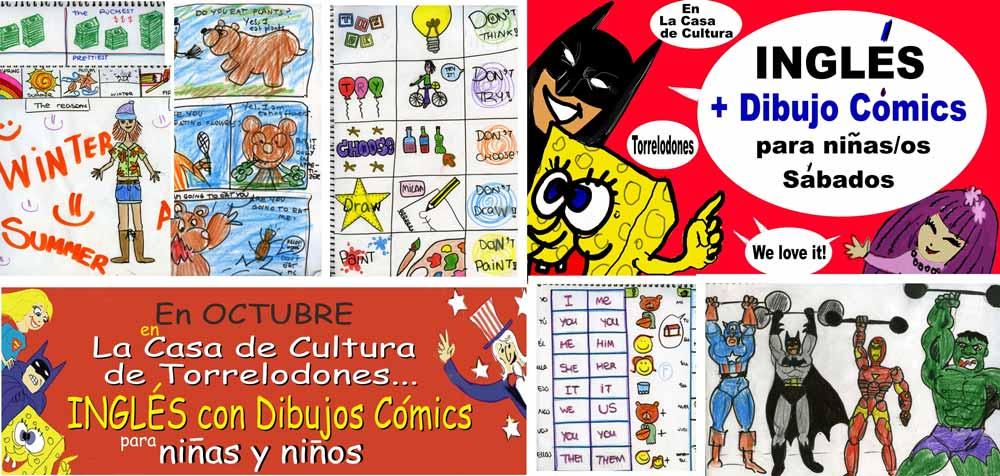 Nuevo curso de Inglés + Cómic para niños, by Fernando Ahumada Barth en la Casa de Cultura de Torrelodones