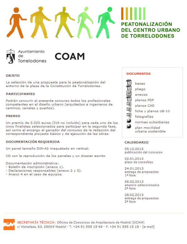 Concurso para la Peatonalización del centro de Torrelodones