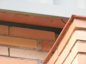 Problemas con el muro del pabellón pequeño del Polideportivo de Torrelodones