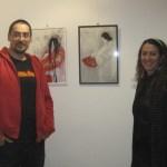Penélope López y Javier Aguilera en la inauguración de Memoria Oriental Fragmentada