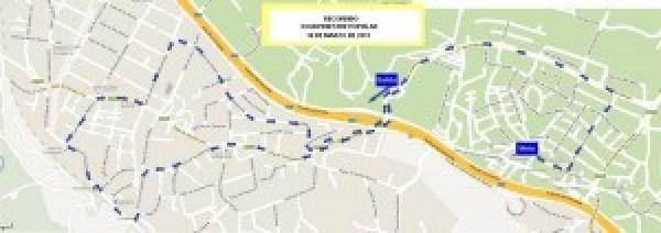 Recorrido de la carrera Pedestre Popular de Torrelodones (10-03-2013)
