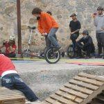 Exhibición de monociclistas en Torrelodones (Foto: Fernando Villaverde)