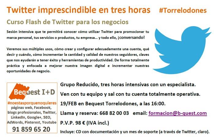 Curso de Twitter en Torrelodones