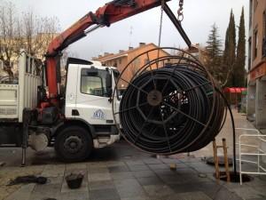 Comienza el cableado de fibra óptica en Torrelodones (Foto: Twitter Vecinos por Torrelodones)