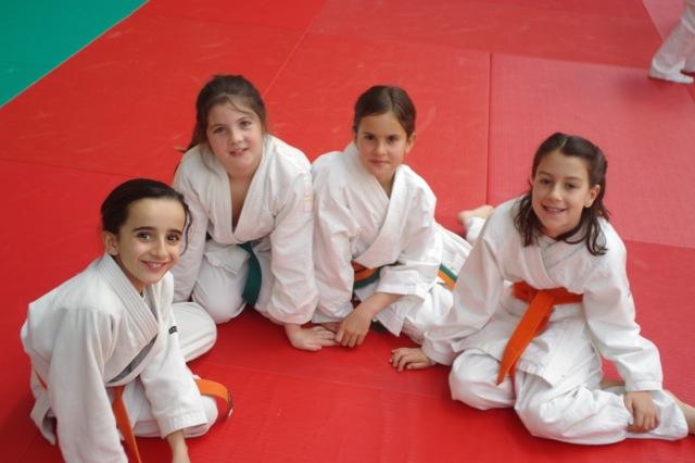 Judocas de Torrelodones. Las campeonas: Olivia, Silvia, Lorea y Candela.