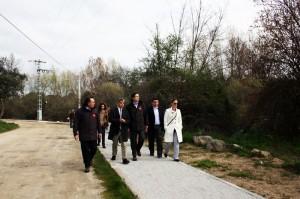Visita a las obras de remodelación y mejora del entorno del Río Guadarrama a su paso por La Navata