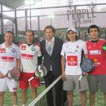 """El """"Bebe"""" Auguste (centro) con Juan Mieres, Pablo Lima (derecha) y Gabi Reca y Seba Nerone (izquierda)"""
