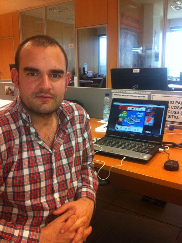 Arturo Romero, en su nuevo puesto de trabajo en Sport Zone