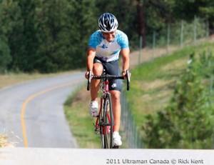 Carlos Llano en el Ultramán Canadá 2011 (Foto: Rick Kent)