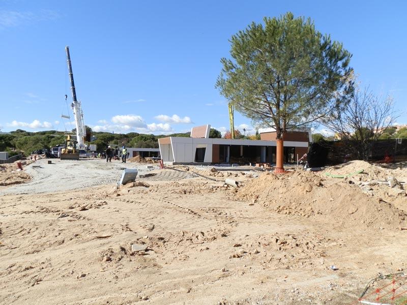 Obras en la Urbanización Las Marías de Torrelodones (Foto de archivo)