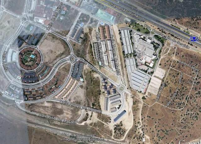 Vista aérea (Google Earth) del predio cedido en el AHS