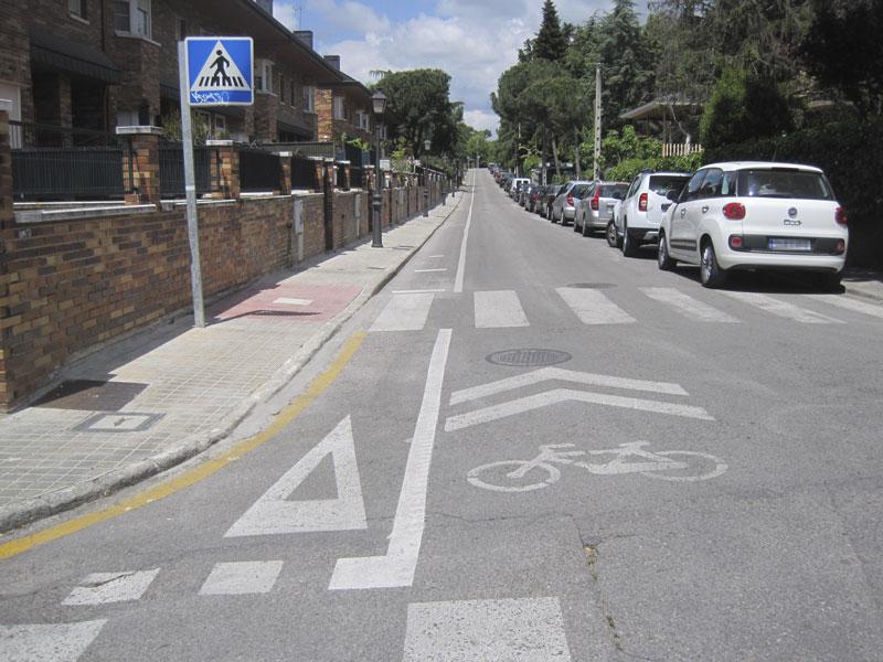 Carril bici, colonia de Torrelodones