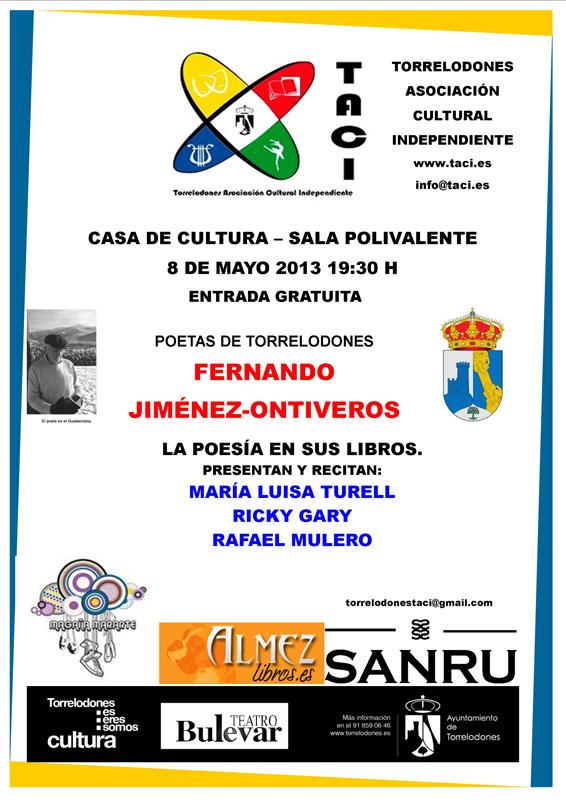 TACI presenta Poetas de Torrelodones - Fernando Jiménez-Ontiveros
