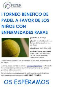 I Torneo Benéfico de Padel a favor de los niños con enfermedades raras