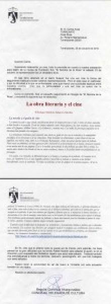 Felicitación de la Concejal de Cultura tras el estreno de El nombre de la rosa en el Teatro Bulevar de Torrelodones