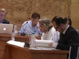 Concejal de acTÚa, Rubén Díaz, durante el Pleno de Julio 2013