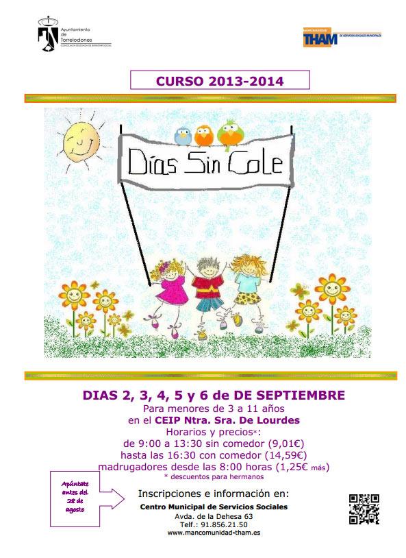 Programa Días Sin Cole, septiembre 2013 en Torrelodones